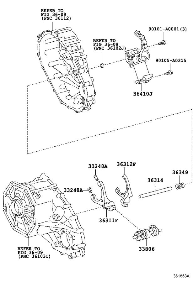Toyota Tundra Shaft Sub-assembly  Control Select  Driveline  Transmission  Transfer