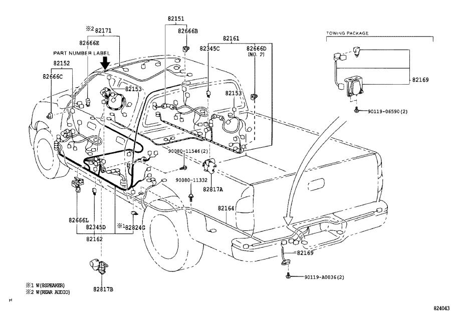 toyota tundra connector  protector  wiring harness