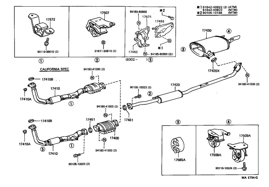 Toyota Camry Exhaust Bracket  Engine  System